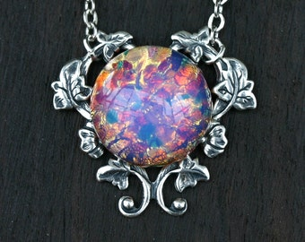 Harlequin Fire Opal Necklace