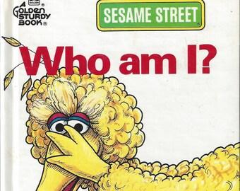Vintage Sesame Street Who Am I? Children's Book, 1992