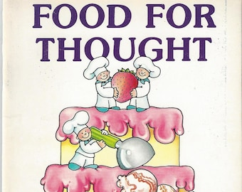 Vintage Food For Thought Puzzle Book, 1987
