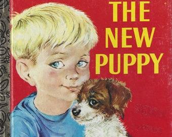 Vintage The New Puppy Little Golden Book Children's Book, C1979