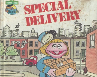 Vintage Sesame Street Special Delivery Children's Book, C1980