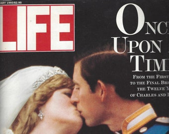 Vintage Life Magazine Once Upon A Time Charles and Diana A Royal Photo Album, February 1993