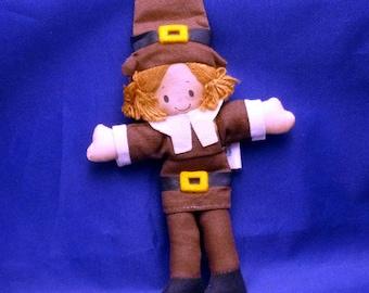 Vintage Mr. Pilgrim Collectible Hallmark Cloth Doll, 1970s