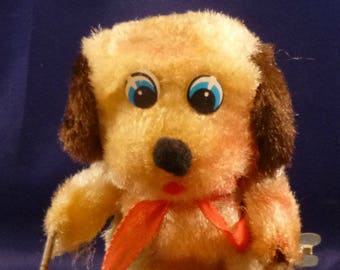 Vintage Bear Playing DrumTin Wind Up Toy, 1970s