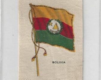 b831ed2b655 Vintage Bolivia Flag Cigarette Tobacco Silk