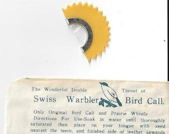 Vintage Swiss Warbler Bird Call, 1950s