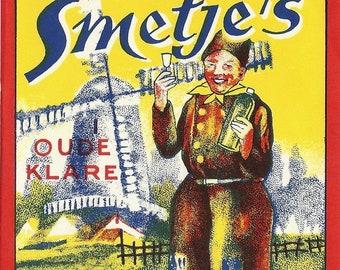 Smetje's Vintage Liquor Label (Large), 1930's