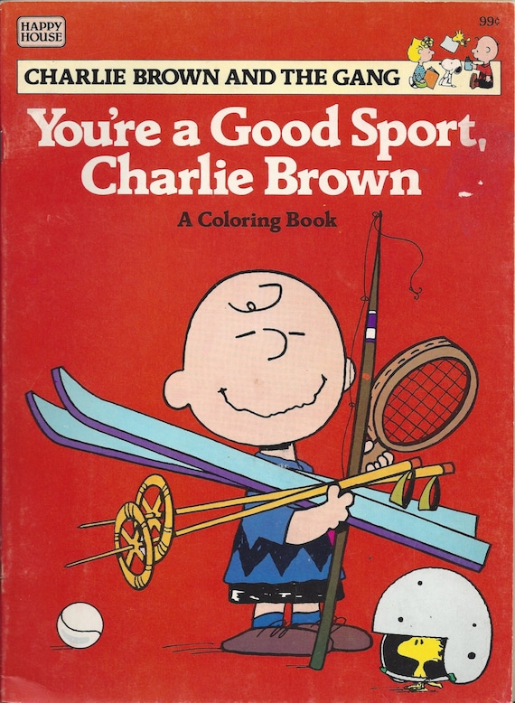 You Re A Good Sport Charlie Brown Vintage Coloring Book 1984