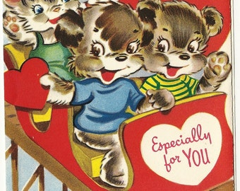 Full Size Vintage Valentine Greeting Card