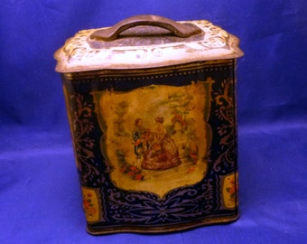 Vintage England Sweets Candy Biscuit Tin, 1950s (empty)