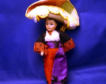 Vintage South of the Border Chiquita Doll, 1960s