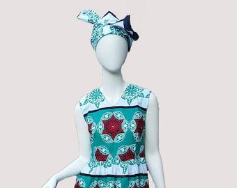 Leso Dress - Aqua with Stars (size S; US 6)