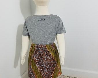 African Print skirt- burnt orange (size: 6-12 months)