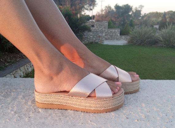 Espadrille espadrilles sandales formes cuir plates en sandales en cuir espadrille rrq0wag