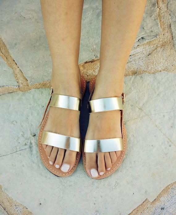 Sandals Gold Wedding Sandals Sandals Leather Sandals qgw4gFpO