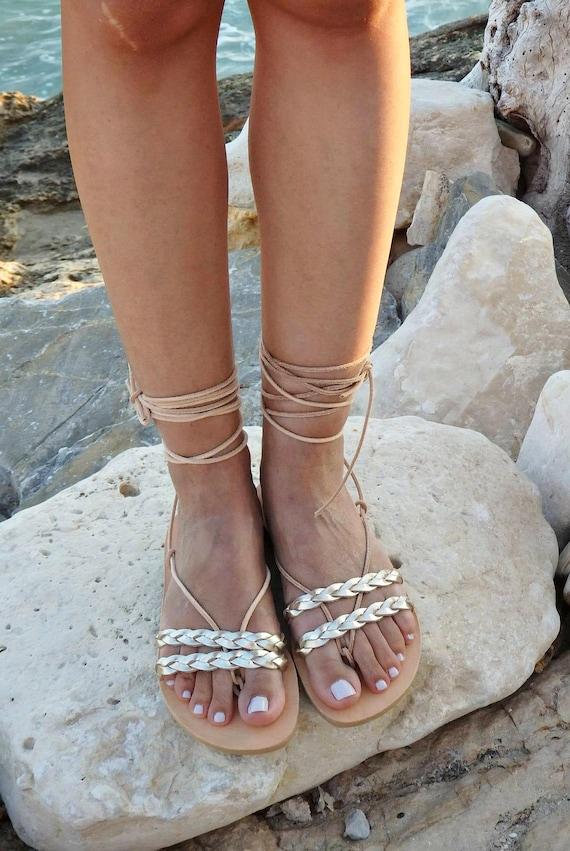 Glod cuir sandales - sandales en en en cuir grec antique - gladiateur & sandales à lanières | Shop  af0d27