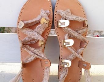 gladiator sandals, gold sandals, wedding shoes,gold color