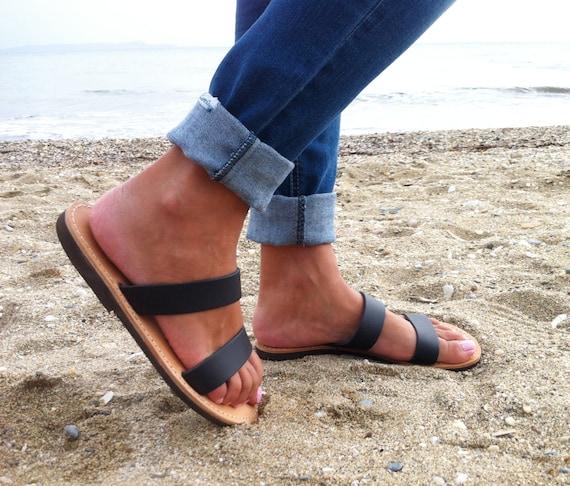 en Sandales bracelet sandales femme noir sandales noirs sandale plates cuir sandales TIZWZERq