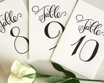 Calligraphy Table Numbers, Wedding Table Numbers, Table Numbers Vintage, Table Numbers For Wedding Tables, Table Number Cards, Calligraphy