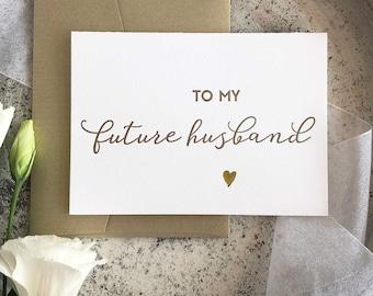 Groom Gift, To My Groom Card, Future Husband, Bride to Groom, To My Future Husband Card, Wedding Day Card, Handsome Husband gift