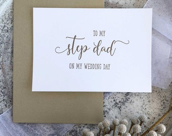 To My Dad On My Wedding Day, Step Dad Gifts, For Father of the Bride, Wedding Card For Mom And Dad, Gift From Bride, To Step Father Gift