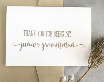 Junior Groomsman Thank You Cards, Groomsman Gifts, Thank You For Being My Groomsman Card, Groomsman Gift, Groomsman Thank You Cards Wedding