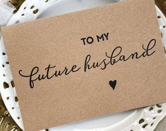 Gift For Groom, Gift, To My Future Husband, Wedding Gift, Groom Card, Groom to Be Gift, Husband to Wife Gift, Wedding Day Card