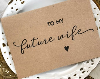 Gift For Bride, Gift, To My Future Wife, Wedding Gift, Bride Card, Bride to Be Gift, Husband to Wife Gift, Wedding Day Card