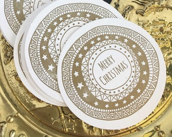 Christmas Table Decor, Holiday Decor, Gold Christmas Decor, Christmas Decorations, Christmas Coasters, Secret Santa Gifts For Office Staff