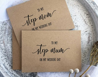 To My Mum On My Wedding Day, Step Mom Card, Wedding Card Mom, Gift Wedding, Day Cards For Mom Gift, To My Step Mother, Rustic Wedding Day,