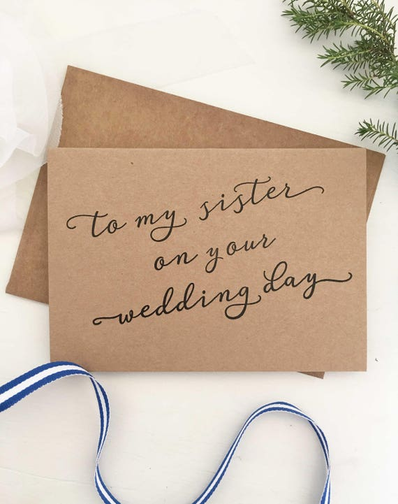 To My Sister On Her Wedding Day My Sister Gift Sister Etsy