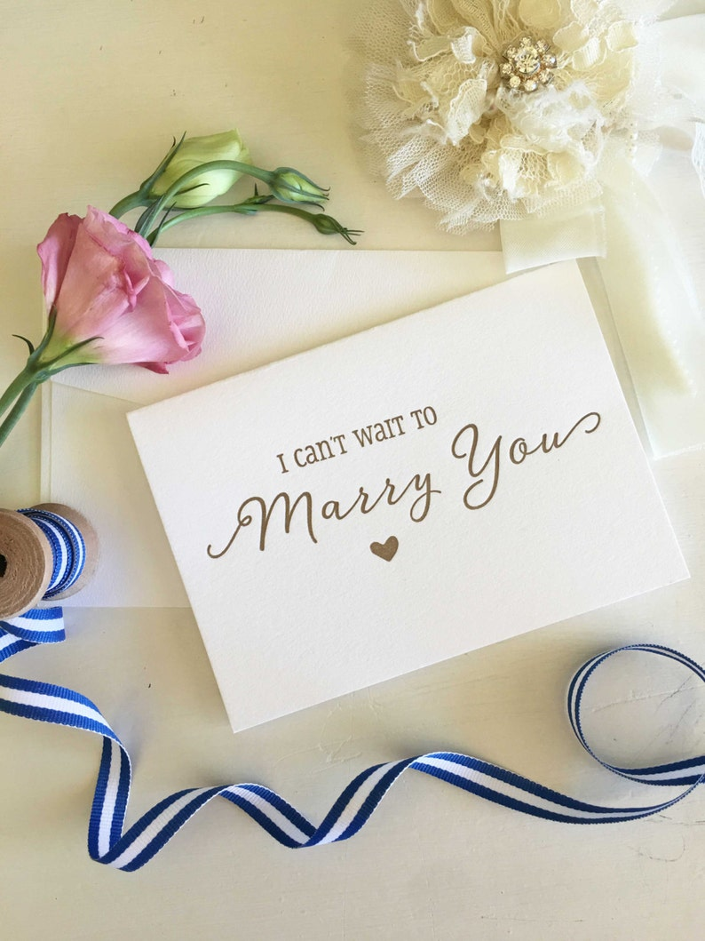 Bride Groom Gift I Can/'t Wait To Marry You Card Groom Gift From Bride Groom To Bride Card Groom Card Bride To Groom Card Wedding Cards