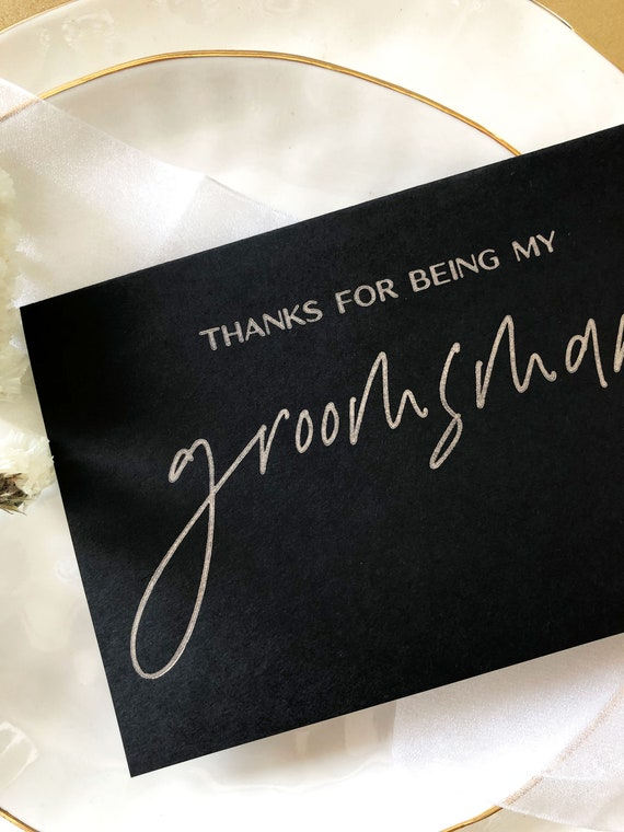 Thank You Card Thank You Wedding Cards Usher 5 x Thank You For Being My Best Man Best Man Card K10 Thank You Card Groomsman Best Man