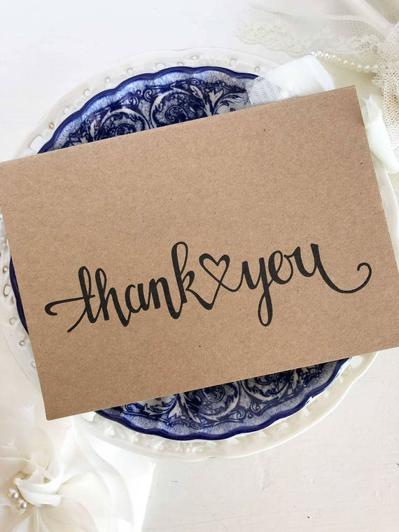 Rustic Wedding Thank You Cards Letterpress Thank You Cards Etsy