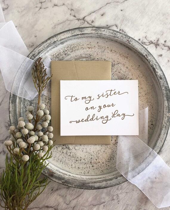 Pour Ma Soeur Le Jour De Votre Mariage Cadeau Pour La Mariee Cadeau De Mariage A Ma Sœur Sur Son Jour De Mariage Cadeau De Soeur Cadeaux Pour