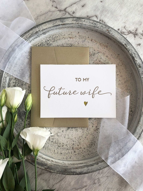 Bride Gift For Bride To My Future Wife Wedding Gift Bride Etsy