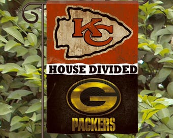 House Divided Garden Flag - Football