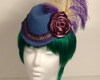Blue and purple Steampunk ladies Cap