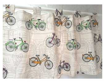 Bicycle Curtains Etsy