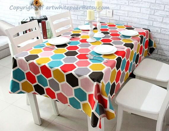 Geometrisch Runde Tischdecke Symmetrisches Muster