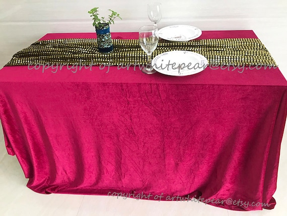 Velvet Tablecloth Teal Blue Rectangle Square Round Oval Dining,Coffee Table,Party,Beach Wedding,shower,Gift-13 Colors,Custom Size,FREE GIFT
