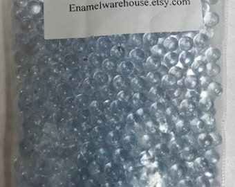For Fusing On Metal~8 Oz. Vintage Clear Glass Beads no Holes