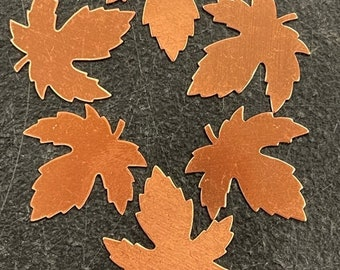 Copper Maple Leaf  pack of 6