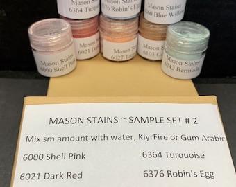 Mason Stains Sample Set #2 Ten color Samples