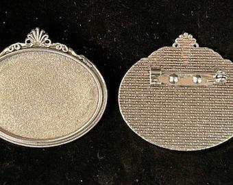 Oval Brooch Settings (set of 2)
