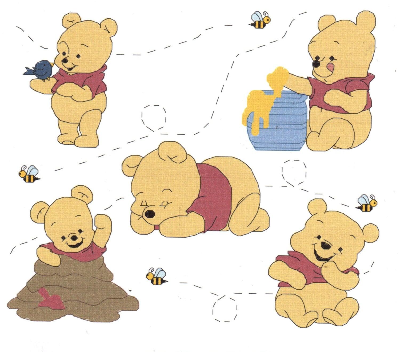 Baby Pooh Collage cruz puntada patrón Winnie el Pooh | Etsy