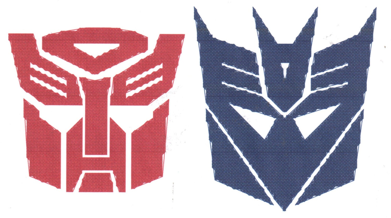 Transformers Autobots Decepticons Logo Cross Stitch Pattern Etsy