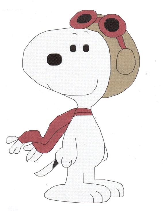 Snoopy el patrón de punto de Cruz de barón rojo | Etsy