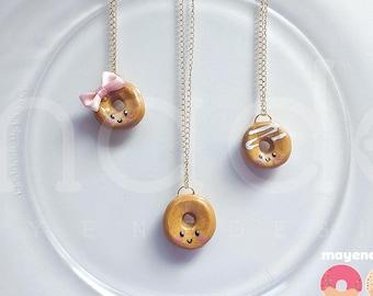 original glaze donut necklace, handmade food jewelry
