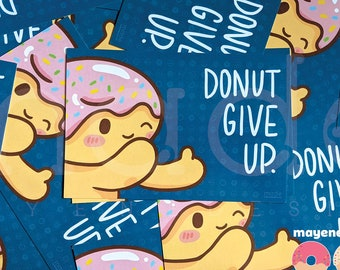 donut give up postcard